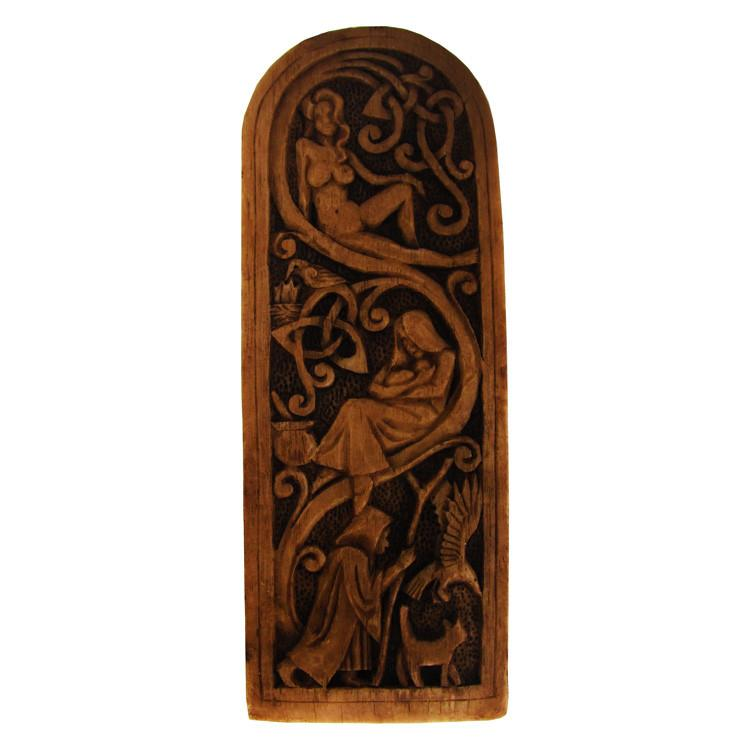 Maiden, Mother, Crone Plaque - Wood Finish
