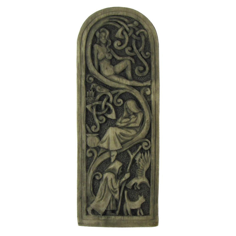 Maiden Mother Crone Plaque Stone Finish