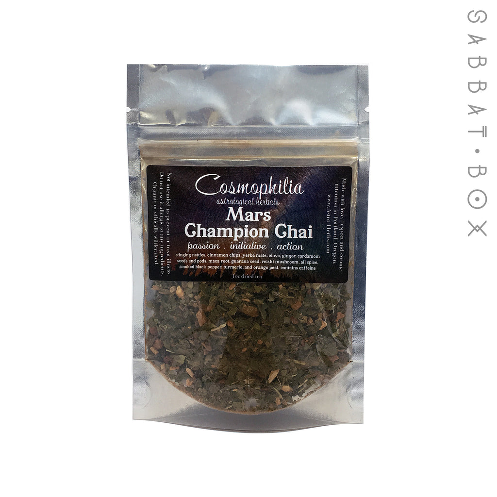 Mars Champion Chai Tea - Cosmophilia Astrological Herbals Pagan Teas - 1oz