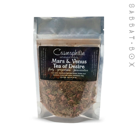 Mars and Venus Tea of Desire - 1oz - Cosmophilia Astrological Herbals Pagan Tea