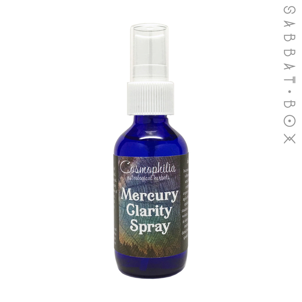 Mercury Clarity Spray - 2oz - By Cosmophilia Astrological Herbals