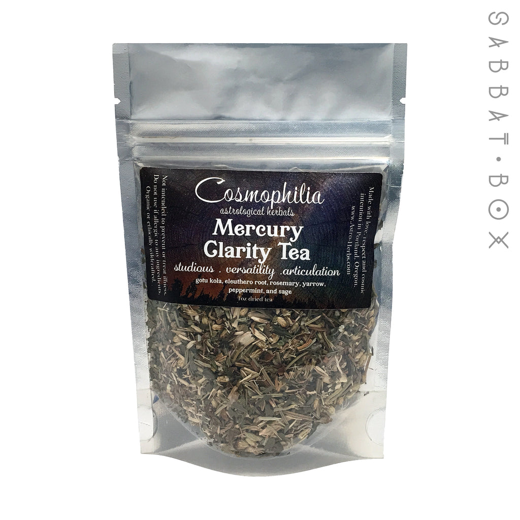 Mercury Clarity Tea - 1 oz - Cosmophilia Astrological Herbals Pagan Tea