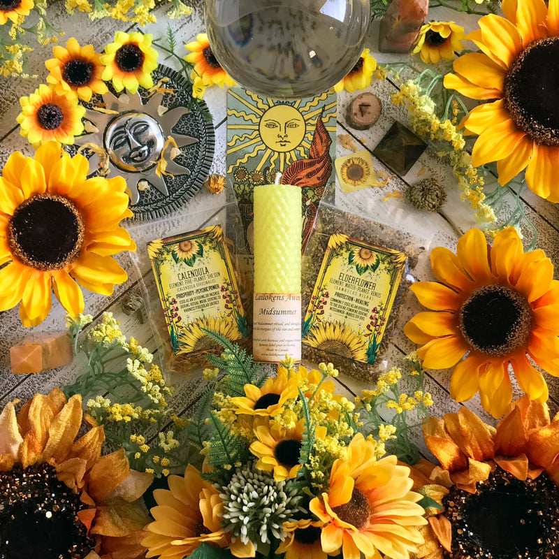 Midsummer Solar Herb Set By Sabbat Box