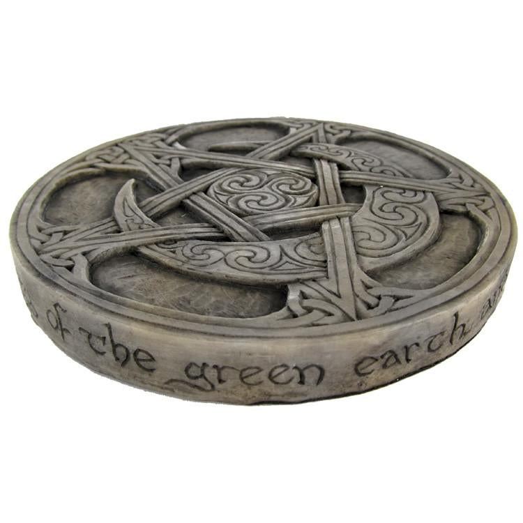 Moon Pentacle Plaque For Pagans
