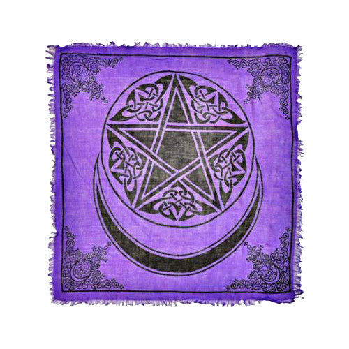 Crescent Moon and Pentacle Altar Cloth