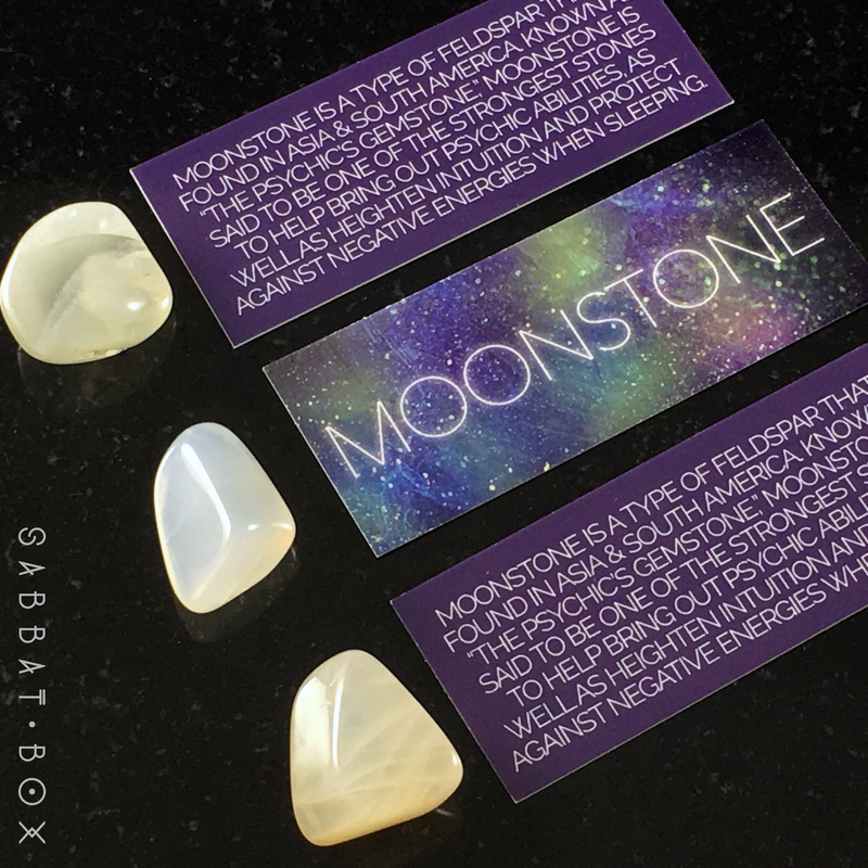 Moonstone Tumbled Crystal Set