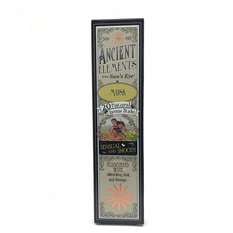 Musk Ancient Elements Stick Incense by Sun's Eye - Sabbat Box