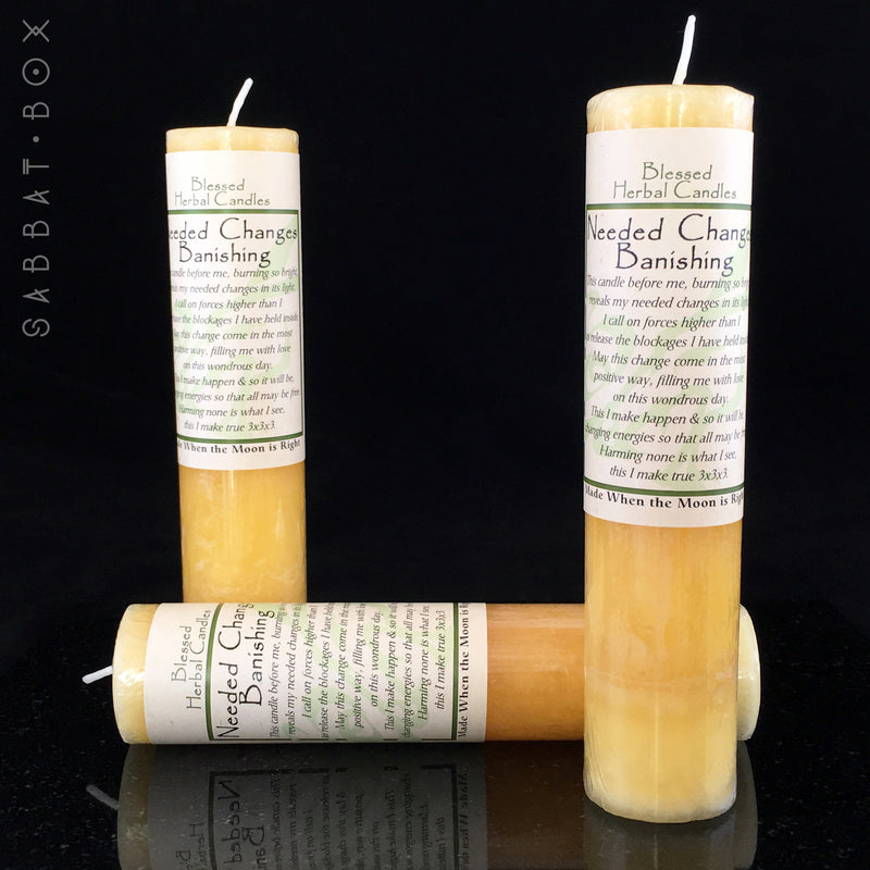 Needed Change/Banishing Spell Candle