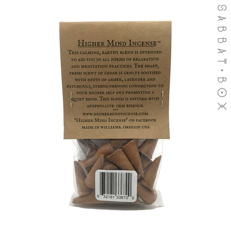 Northwest Handmade Cone Incense With Amber, Lavender, Patchouli and Cedar - 25 Pack