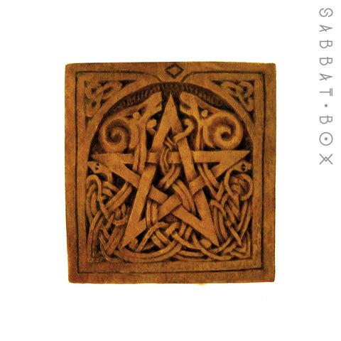 Pagan Pentacle Plaque - Altar Tile - By Paul Borda