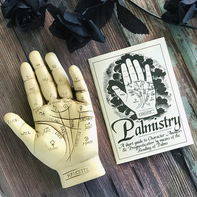 Palmistry Hand Statue With Info Booklet - Sabbat Box