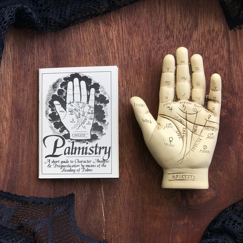 Palmistry Hand Statuary Kit With Statue and Info Booklet - Sabbat Box