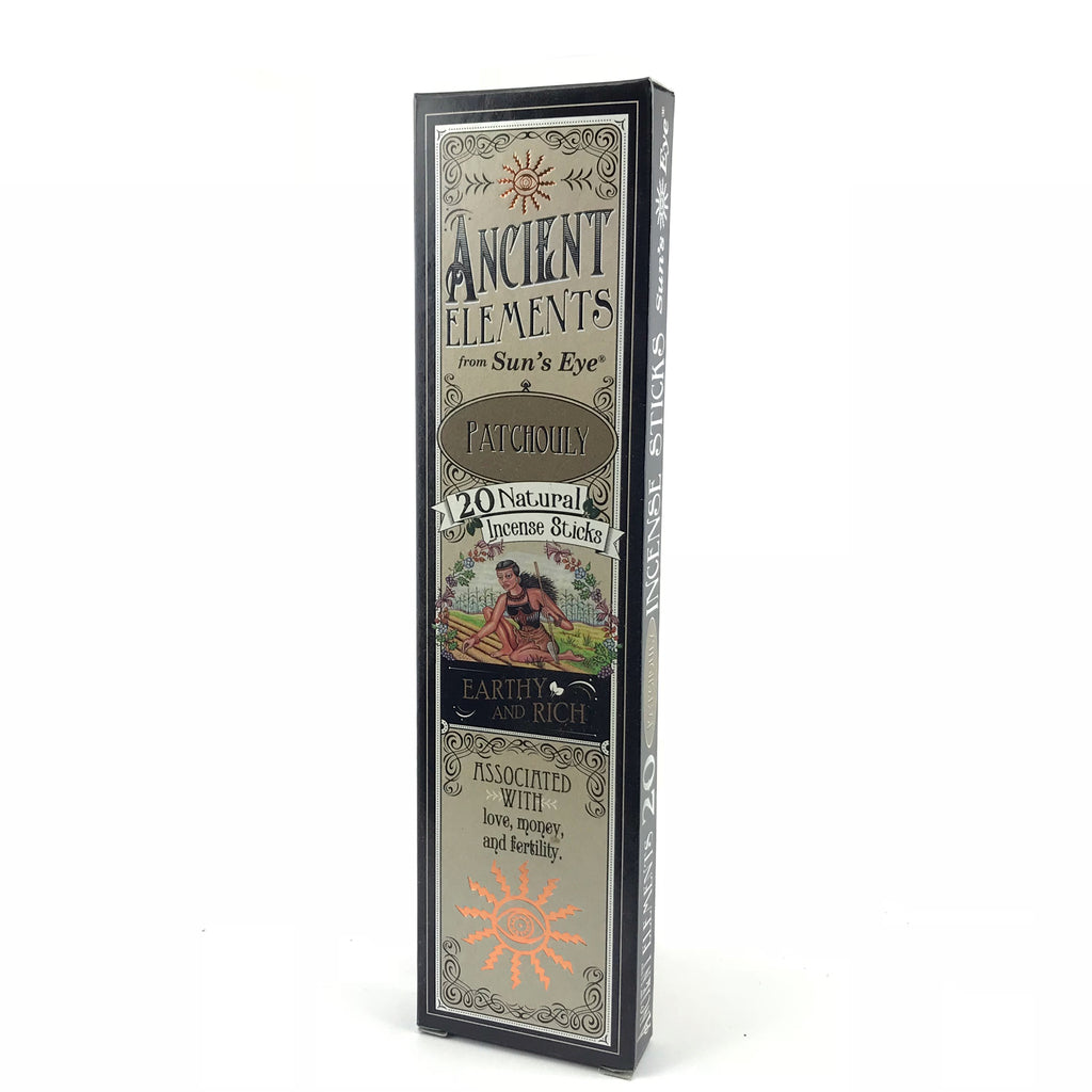 Patchouly Ancient Elements Stick Incense by Sun's Eye - Sabbat Box