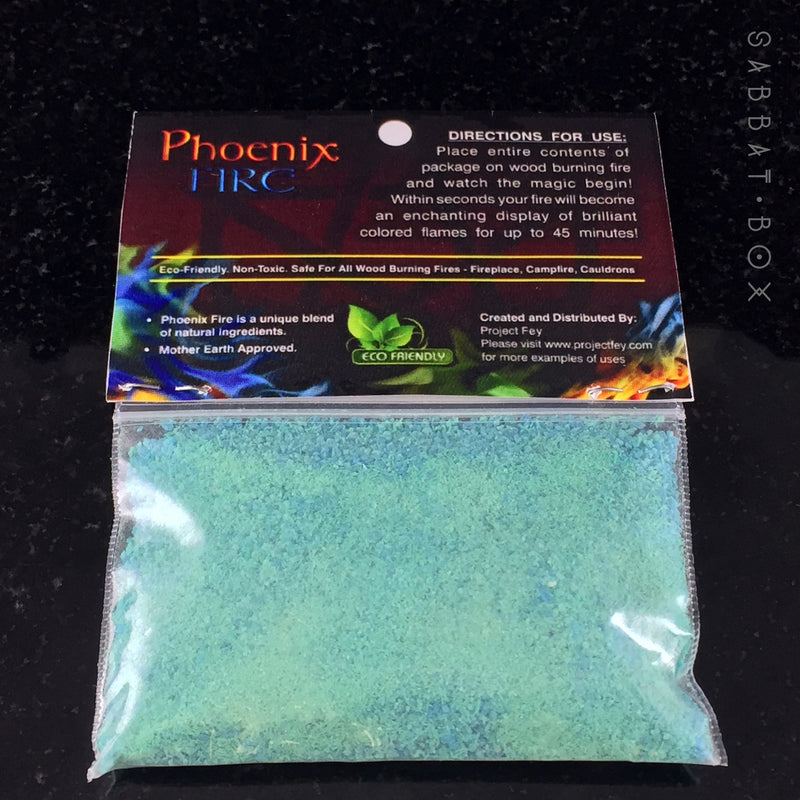 Phoenix Fire Powder - Feys Fire Powder - Featured In Sabbat Box