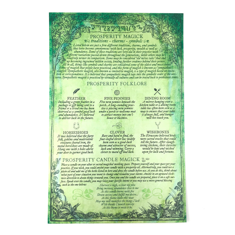 Prosperity Magick Correspondence Guide By Sabbat Box