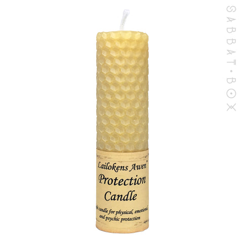 Protection Beeswax Spell Candle by Lailoken's Awen