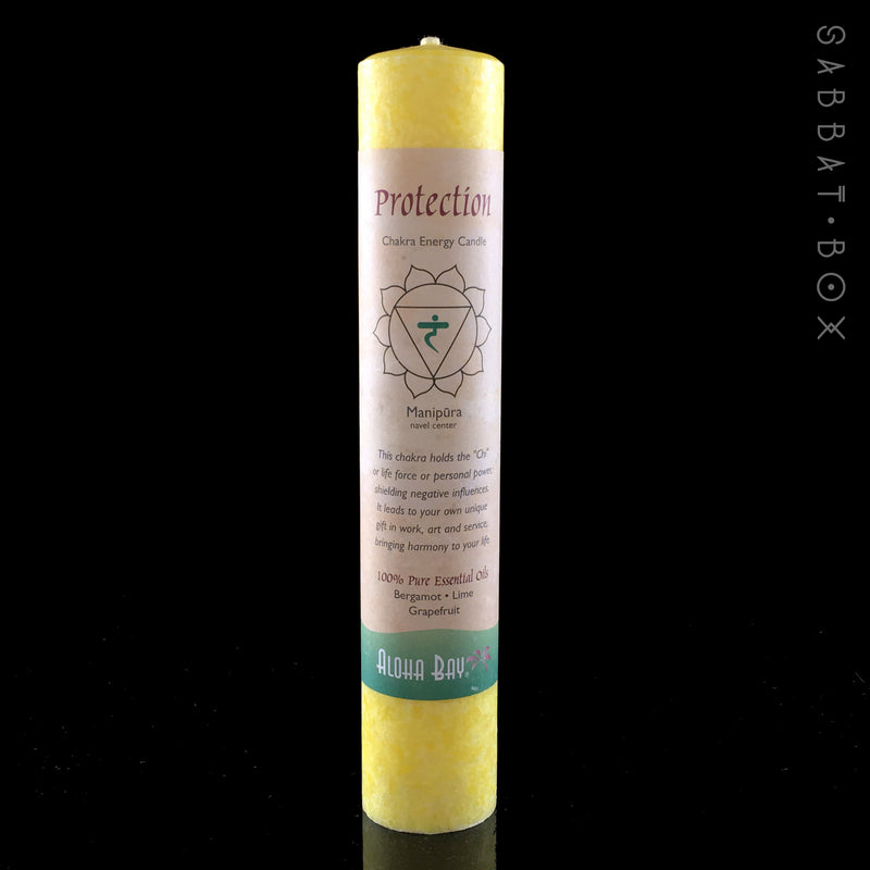 Protection - Solar Plexus Chakra Energy Candle