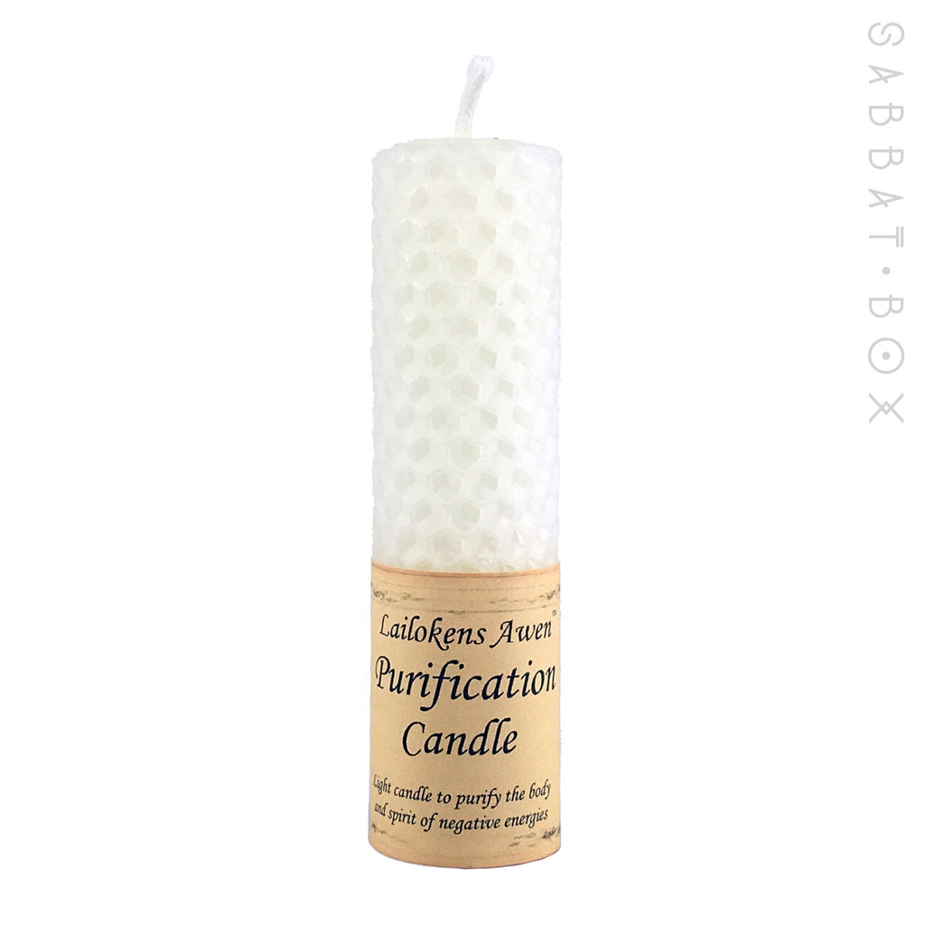 Purification Beeswax Spell Candle by Lailoken's Awen - Sabbat Box