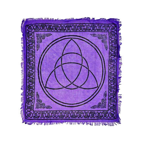Purple Triquetra Altar Cloth