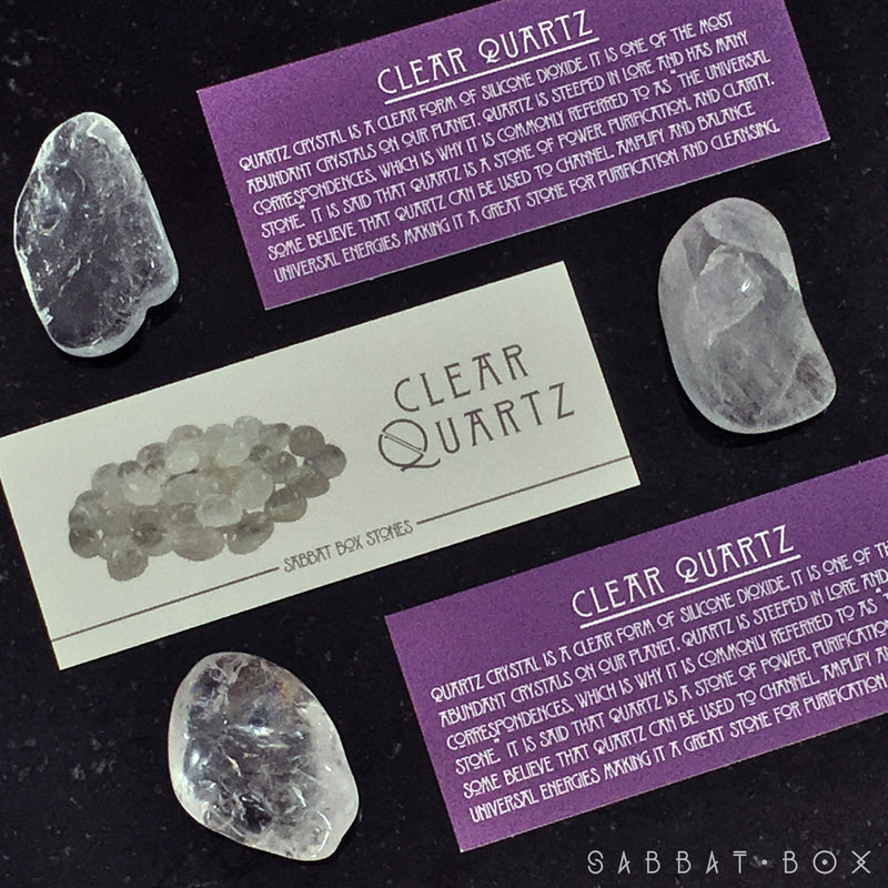 Clear Quartz Gemstone Set