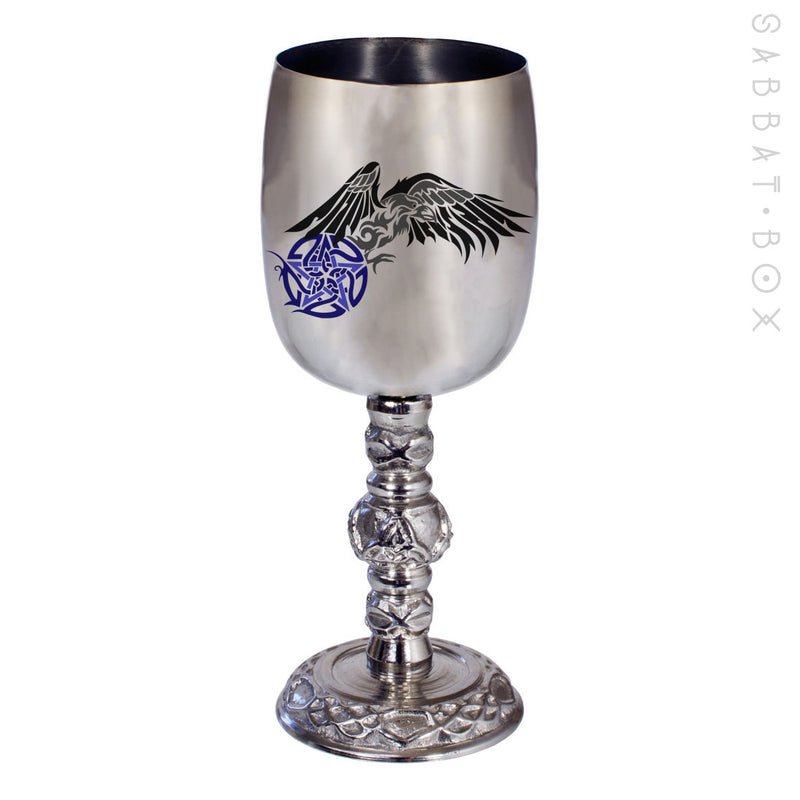 Raven and Pentacle Chalice