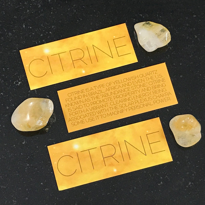 Citrine Crystal Set By Sabbat Box