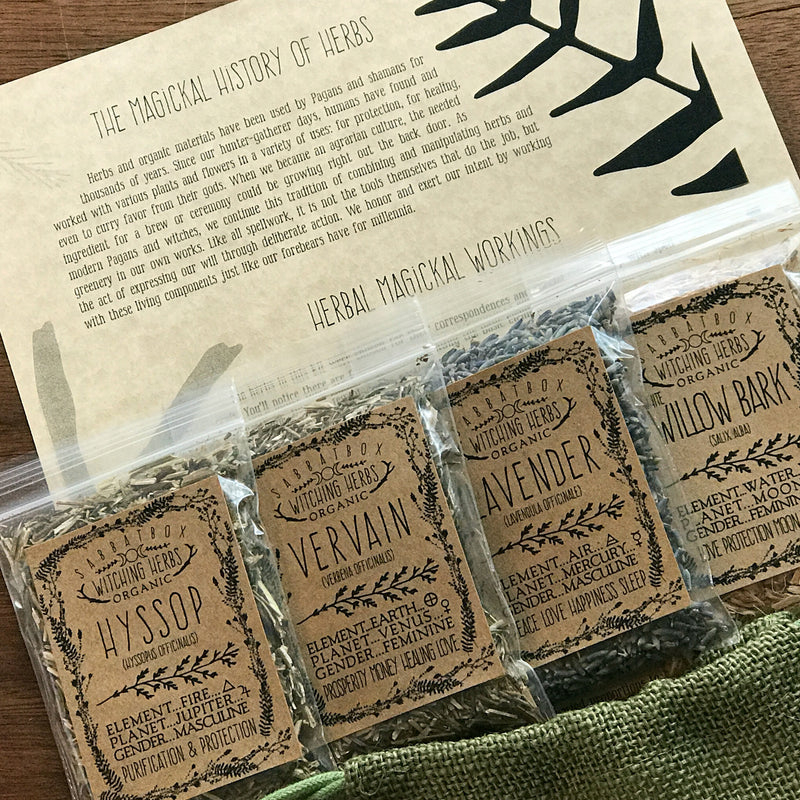 Witches Herb Kit From Sabbat Box