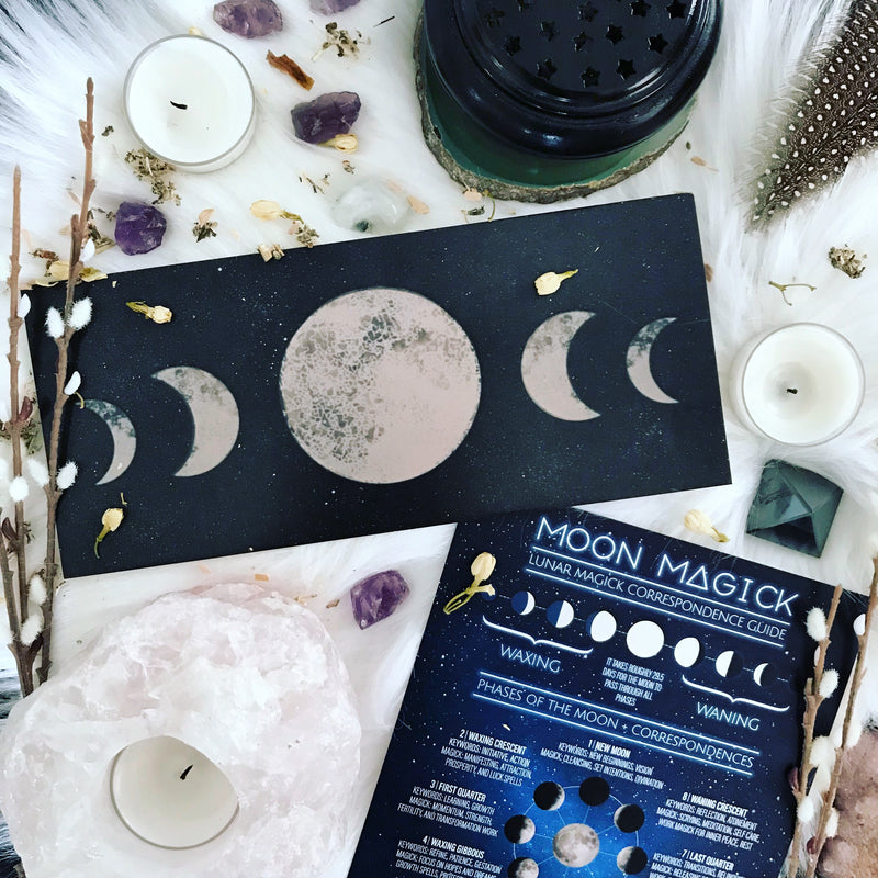 Moon Magick Lunar Correspondence Guide By Sabbat Box - Moon Magick Book of Shadows Page By Sabbat Box
