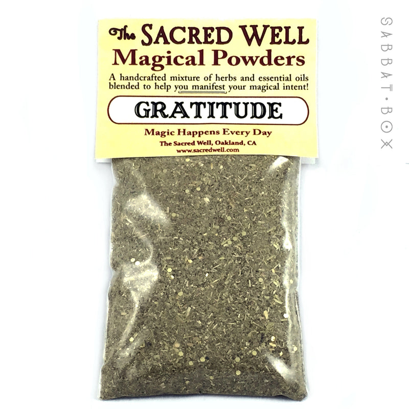 Gratitude Ritual Spell Powder By Sacred Well Mabon Sabbat Box