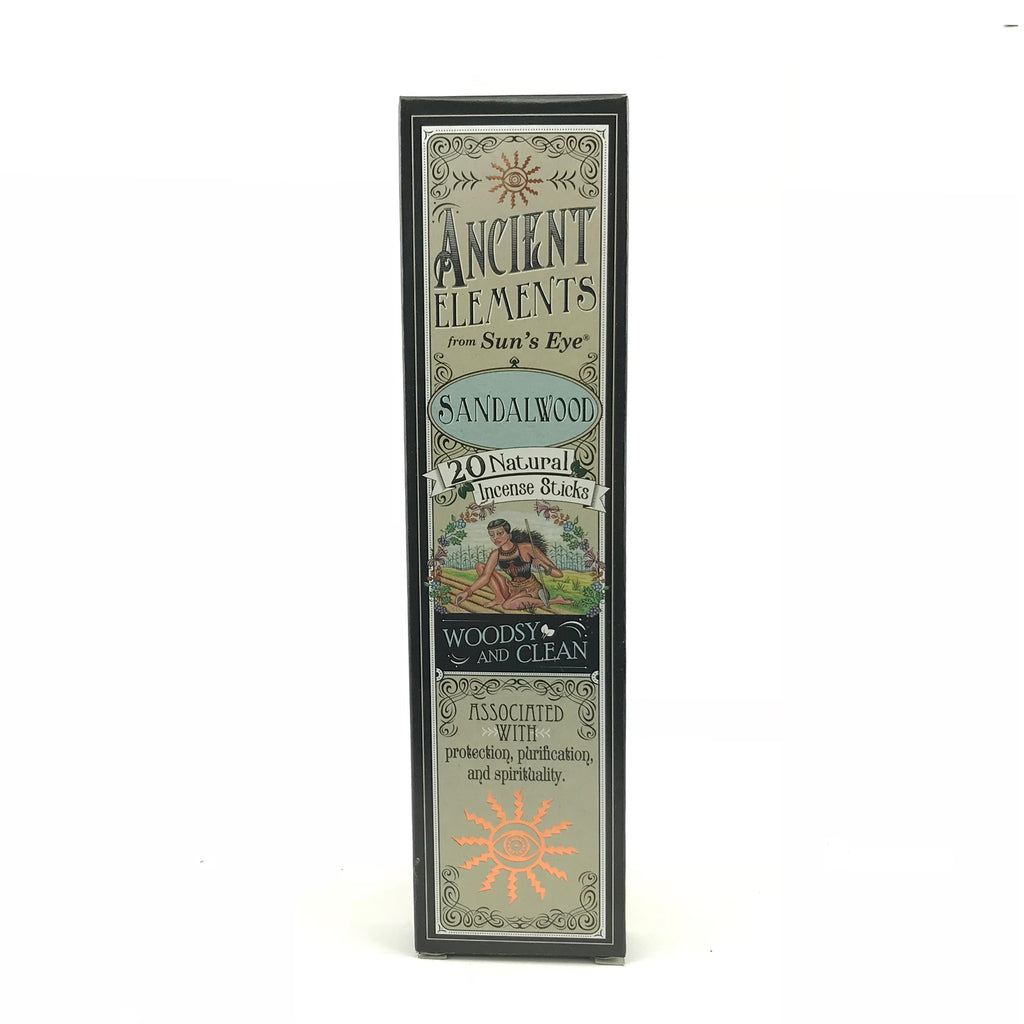 Sandalwood Ancient Elements Stick Incense by Sun's Eye - Sabbat Box