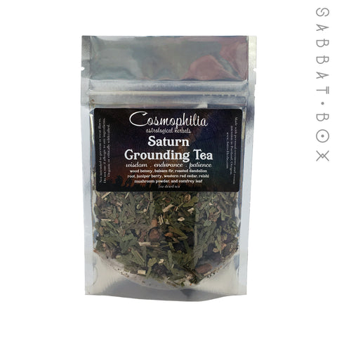 Saturn Grounding Tea - 1oz - Cosmophilia Astrological Herbals Pagan Tea