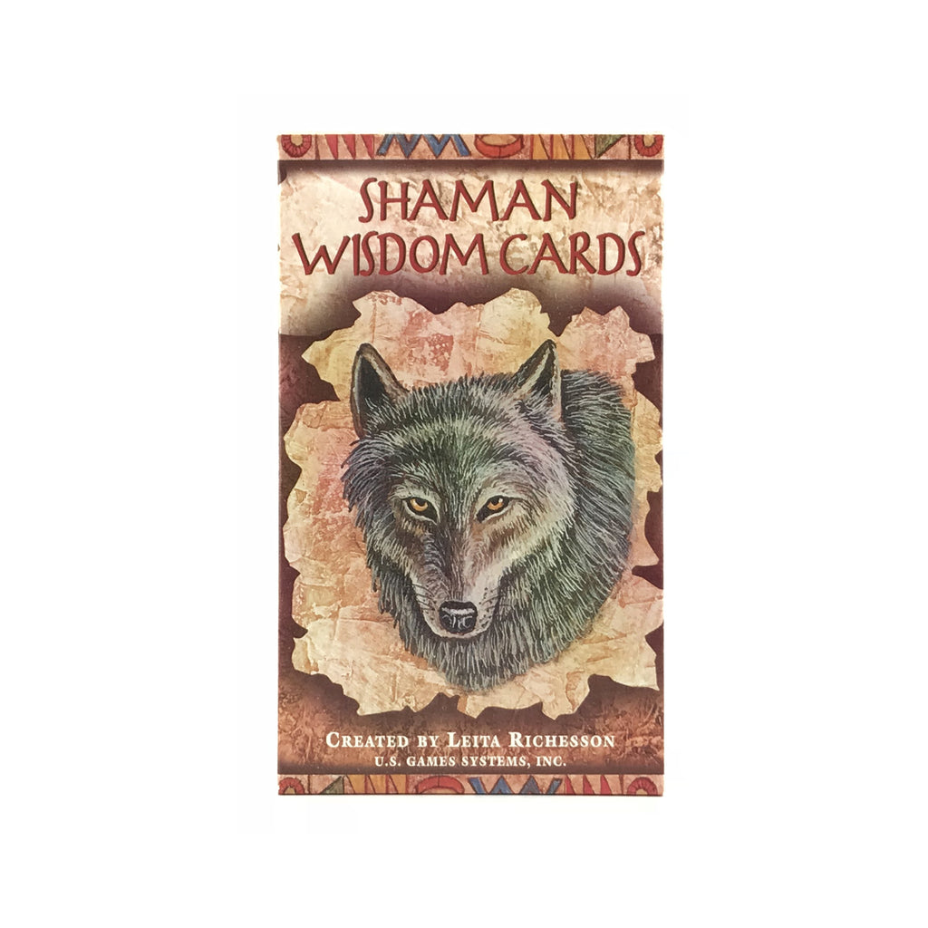 Shaman Wisdom Oracle Card Deck With Gold Bag - Sabbat Box