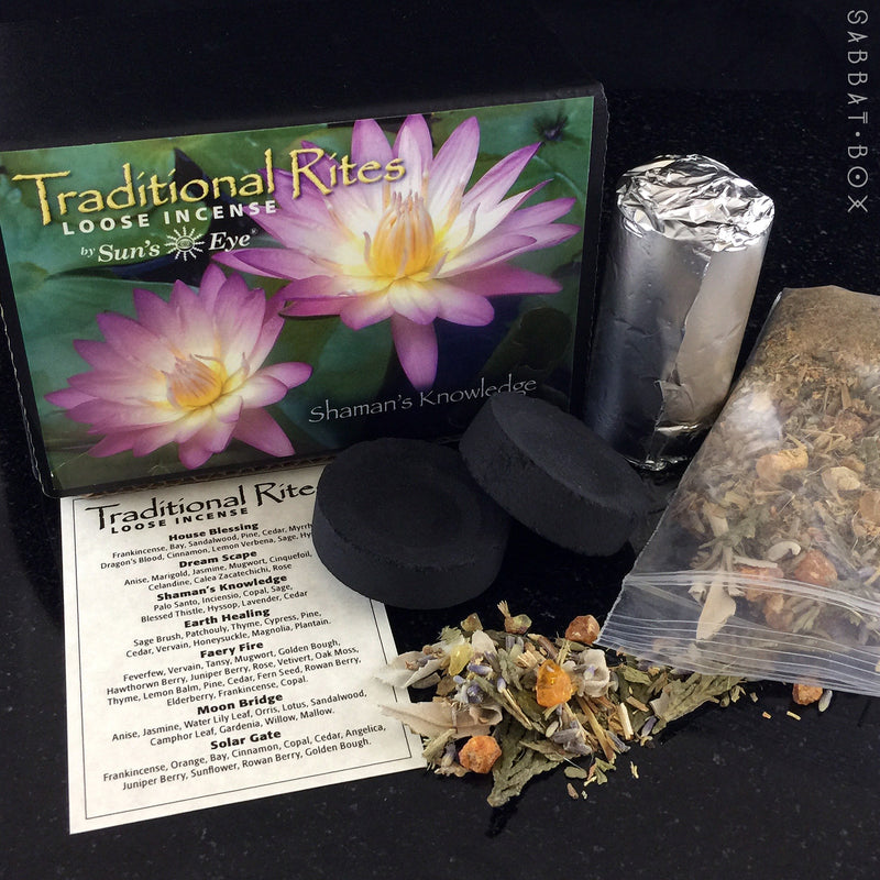 Shaman's Knowledge Traditional Rites Loose Incense Kit