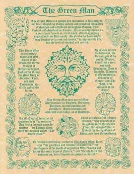 "The Greenman Parchment 8.5"" x 11.0"""