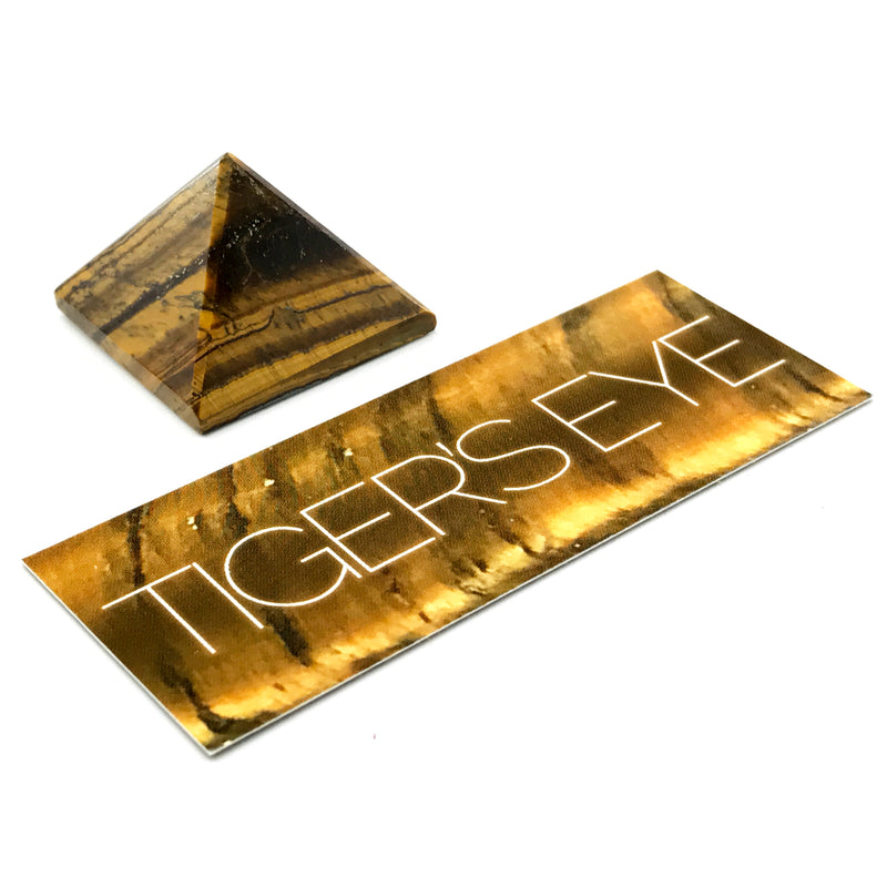 Tiger's Eye Pyramid Gemstone Set - Sabbat Box - Mabon 2017