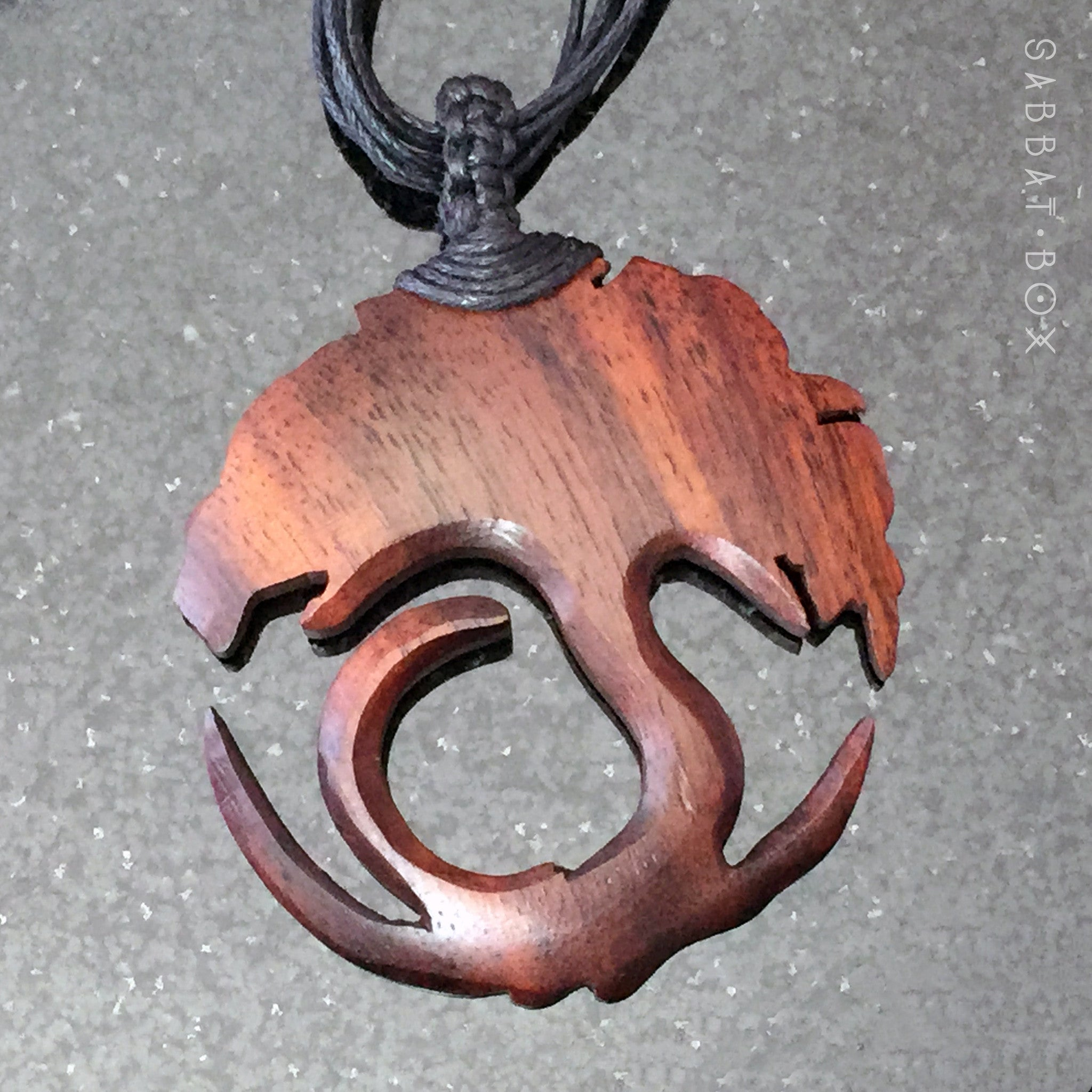 Tree Of Life Hand Carved Wood Necklace Sabbat Box