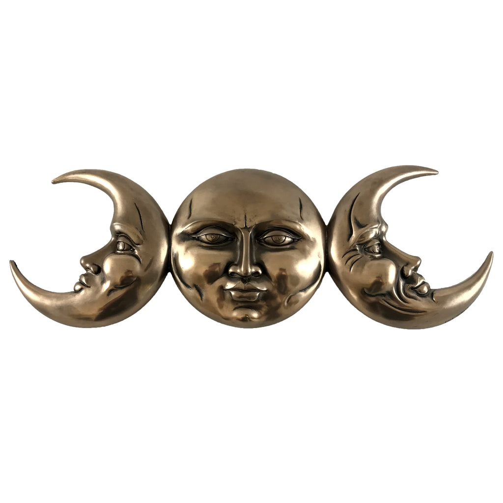 Triple Moon Phase Wall Plaque By Maxine Miller - Sabbat Box