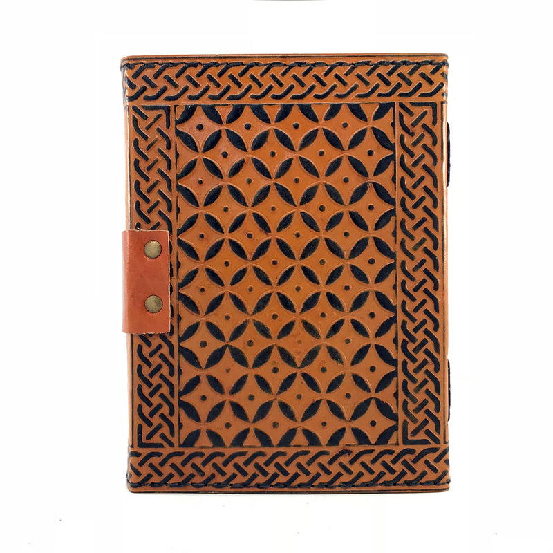 Triquetra Leather Blank Book of Shadows With Latch - Sabbat Box