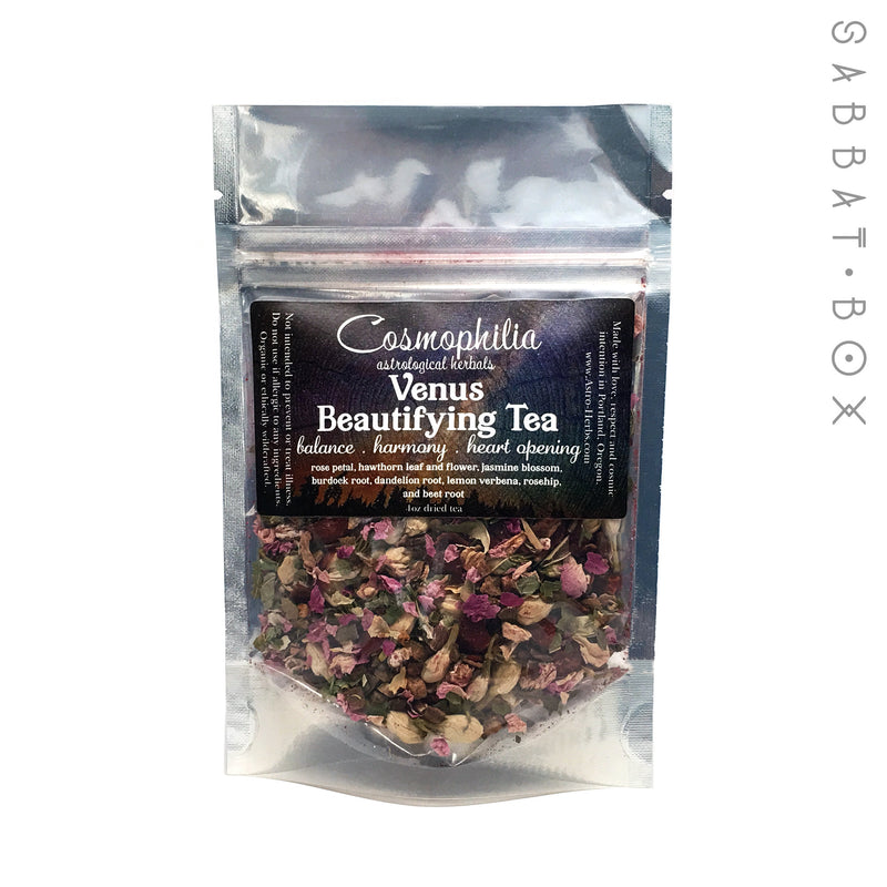 Venus Beautifying Tea - 1 oz - Cosmophilia Astrological Herbals Pagan Tea