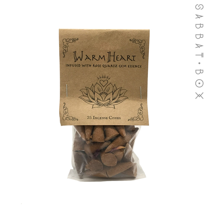 Warm Heart Cone Incense - 25 Pack - By Higher Mind Incense