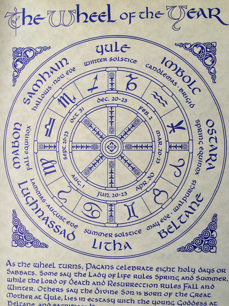 Wheel of the Year Parchment