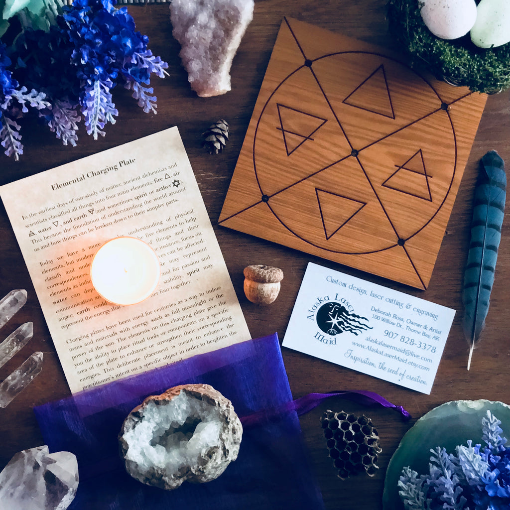 Elemental Ritual Charging Plate Set - Sabbat Box