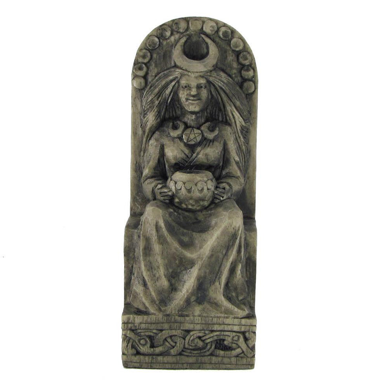 Wiccan Moon Goddess Statue - With Moon Phases - Stone Finish - Paul Borda