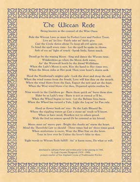 Wiccan Rede Parchment