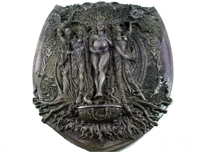 pagan plaques triple goddess maiden mother crone plaques