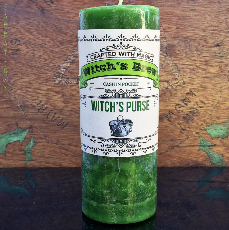 Witch's Purse Witch's Brew Spell Pillar Candle