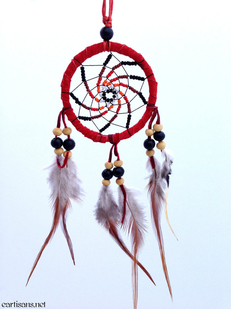 red vortex dream catcher