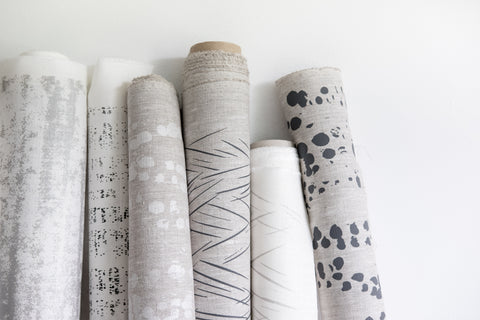 The Signature Collection Made of Cloth Textiles Hand Screen Printed Fabrics