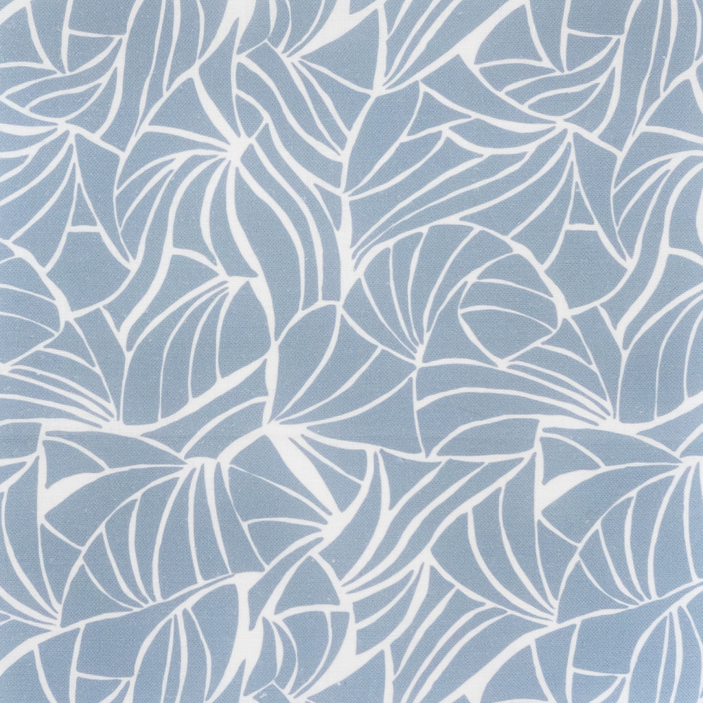 Shells in Sky Gray Fabric