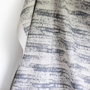 Storm Fabric - Charcoal Gray on Oatmeal